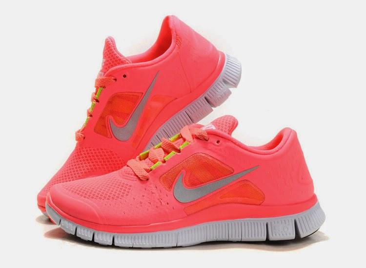 Nike Free 50 Women Running Shoes   Orange Deep Blue  50 028