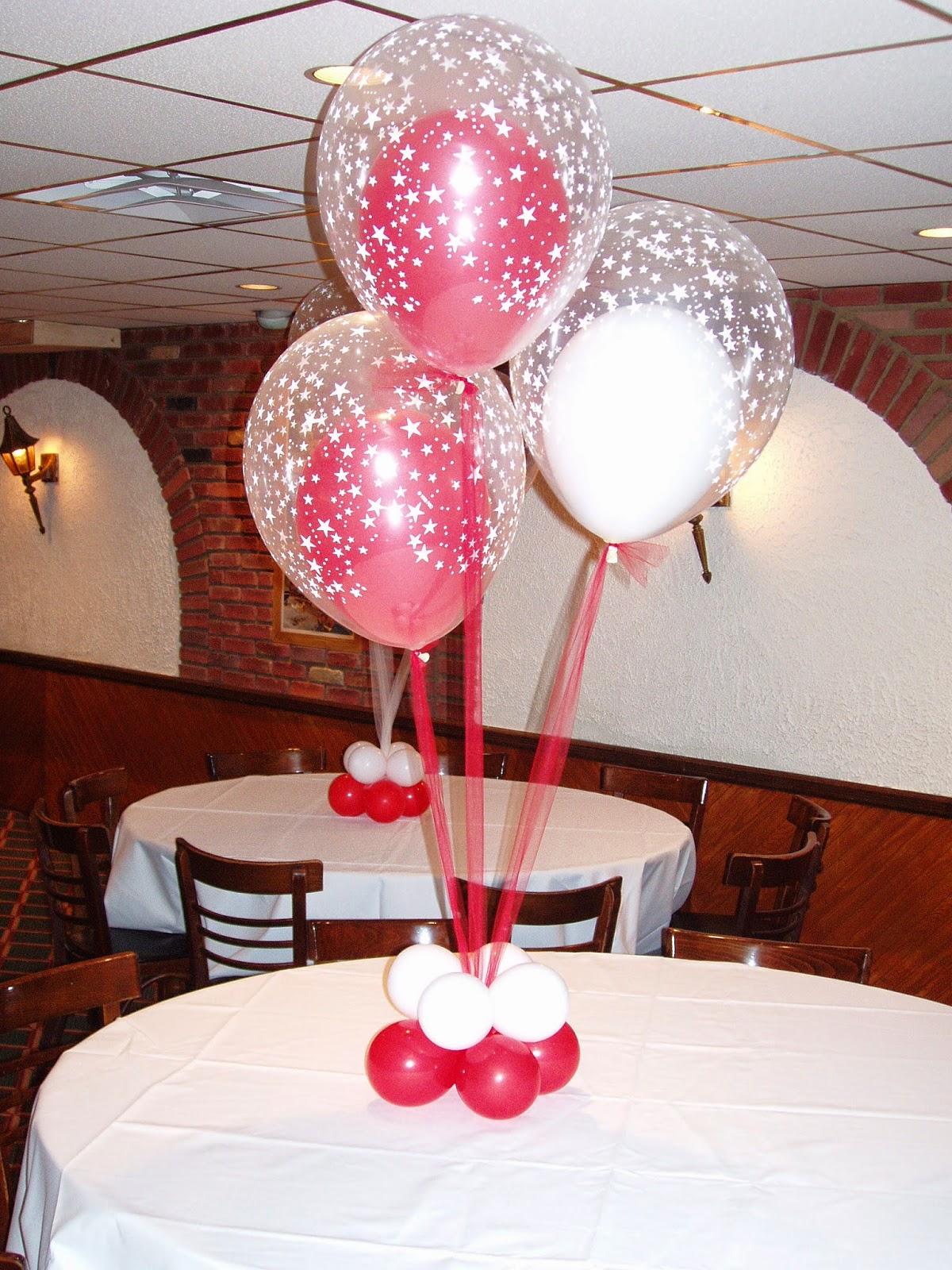 Centro de mesa globos con helio for Pedestales metalicos para mesas