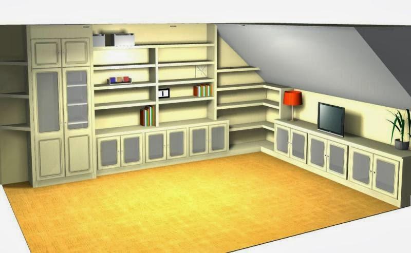 Serranos studio muebles y librerias a medida pladur - Muebles buhardilla ...
