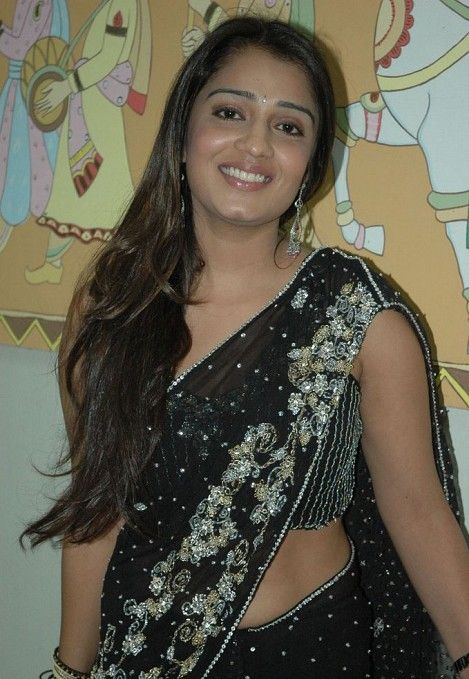 tollywood nikitha black saree unseen pics