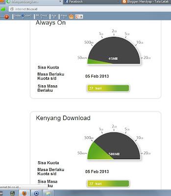 Kuota Kenyang download dan reguler