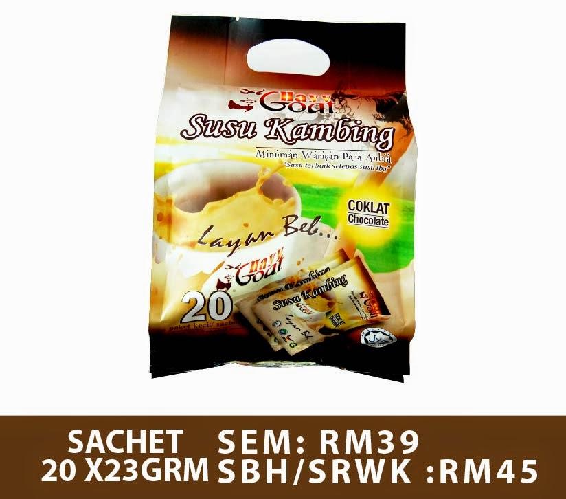 Susu kambing Hayygoat - Sachet Coklat 23g x 20 paket kecil