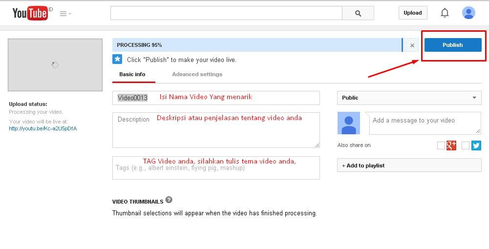 Panduan Bisnis Youtube : Membuat Chanel Dan Upload Video