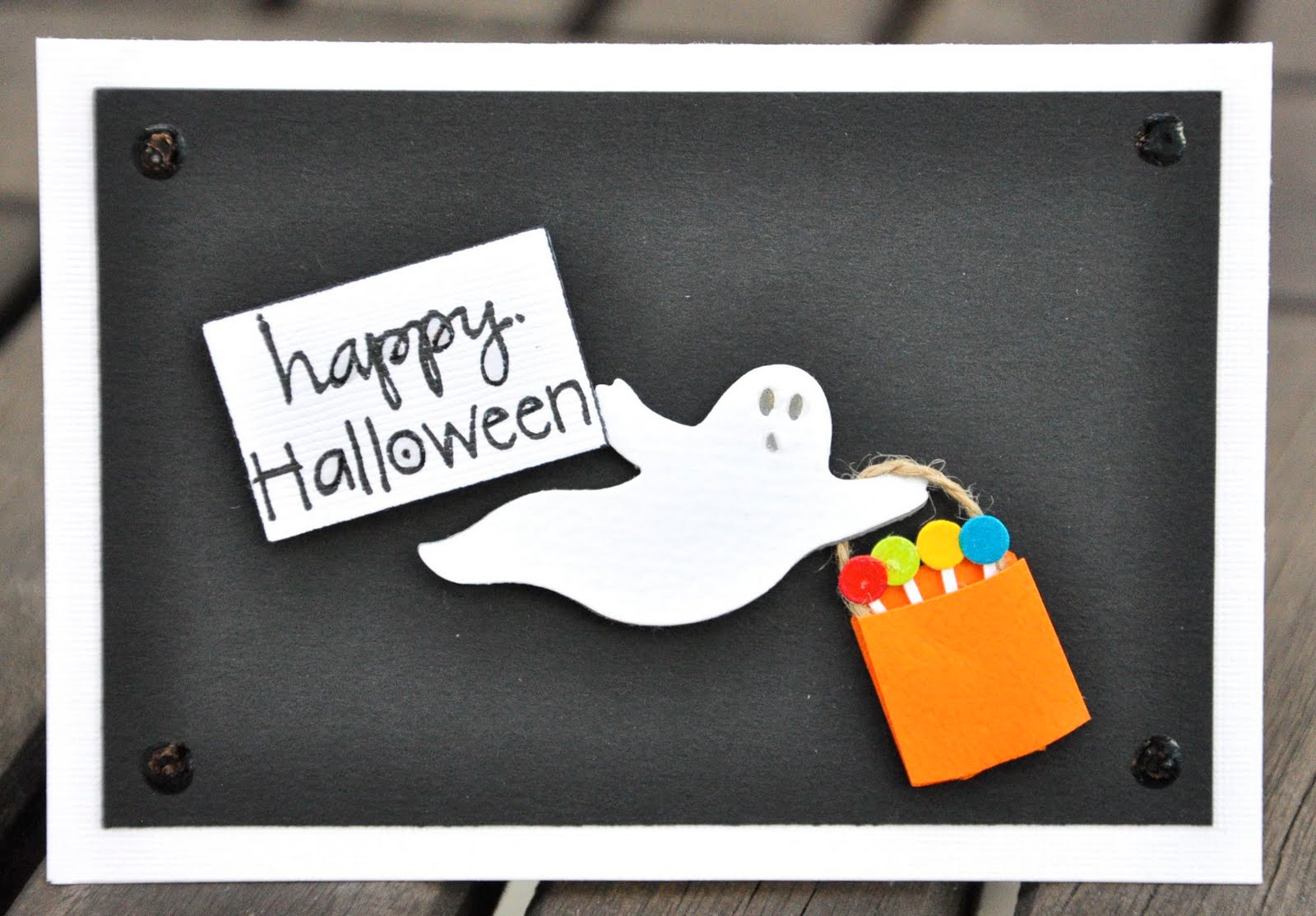 Oshea Designs Customized Paper Goodies Happy Halloween Cards