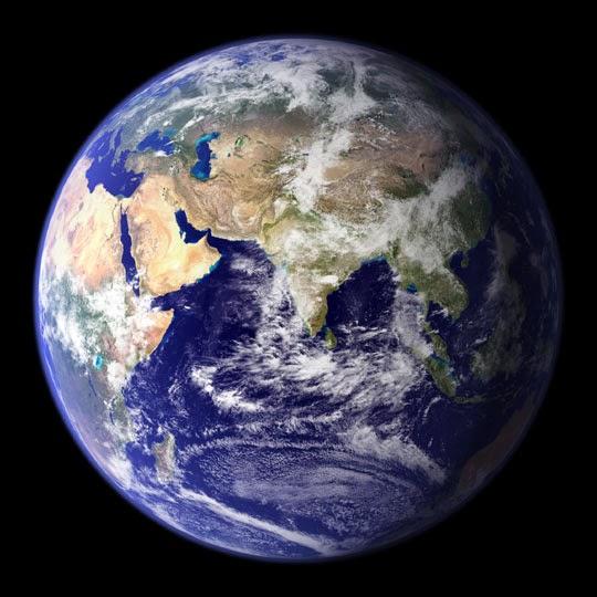 Blue Marble - Globe East