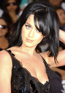 Katy Perry Medium Layered Hairstyle