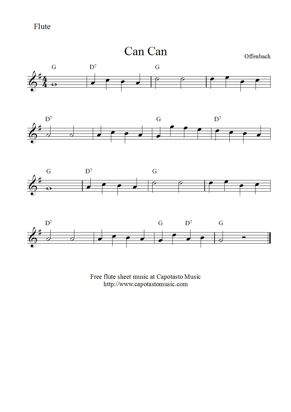 flute sheet music easy