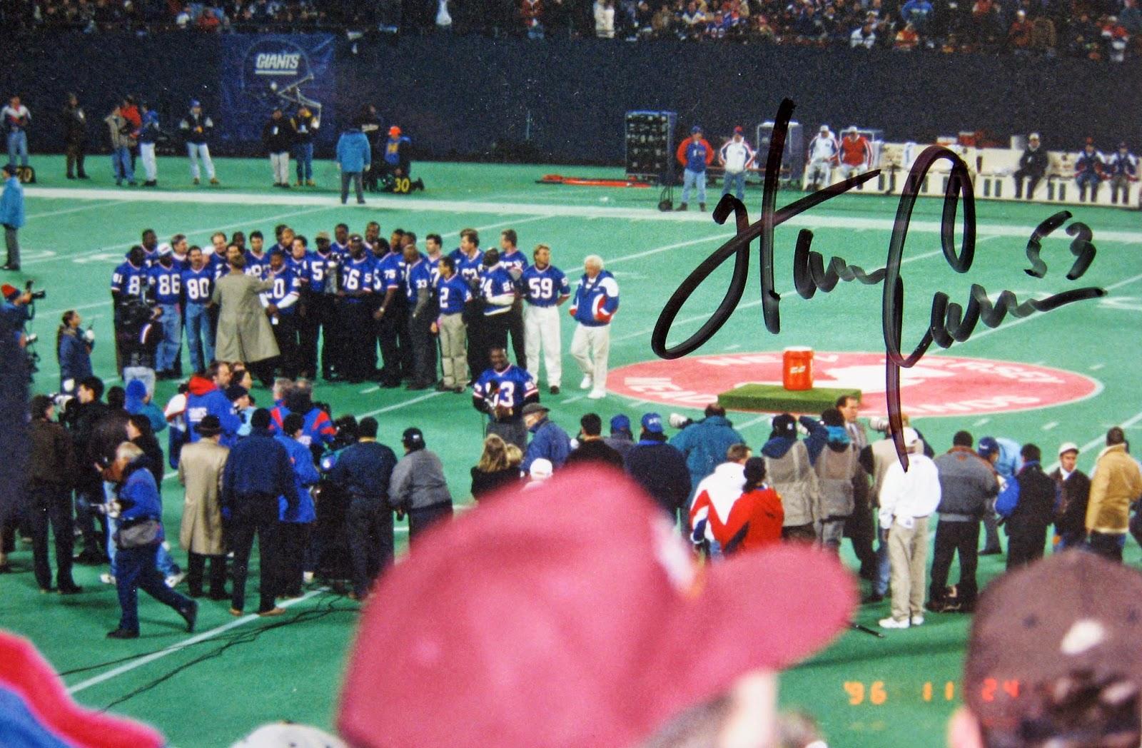 Harry Carson & 1986 Superbowl team at 10 year reunion Giants stadium 1996