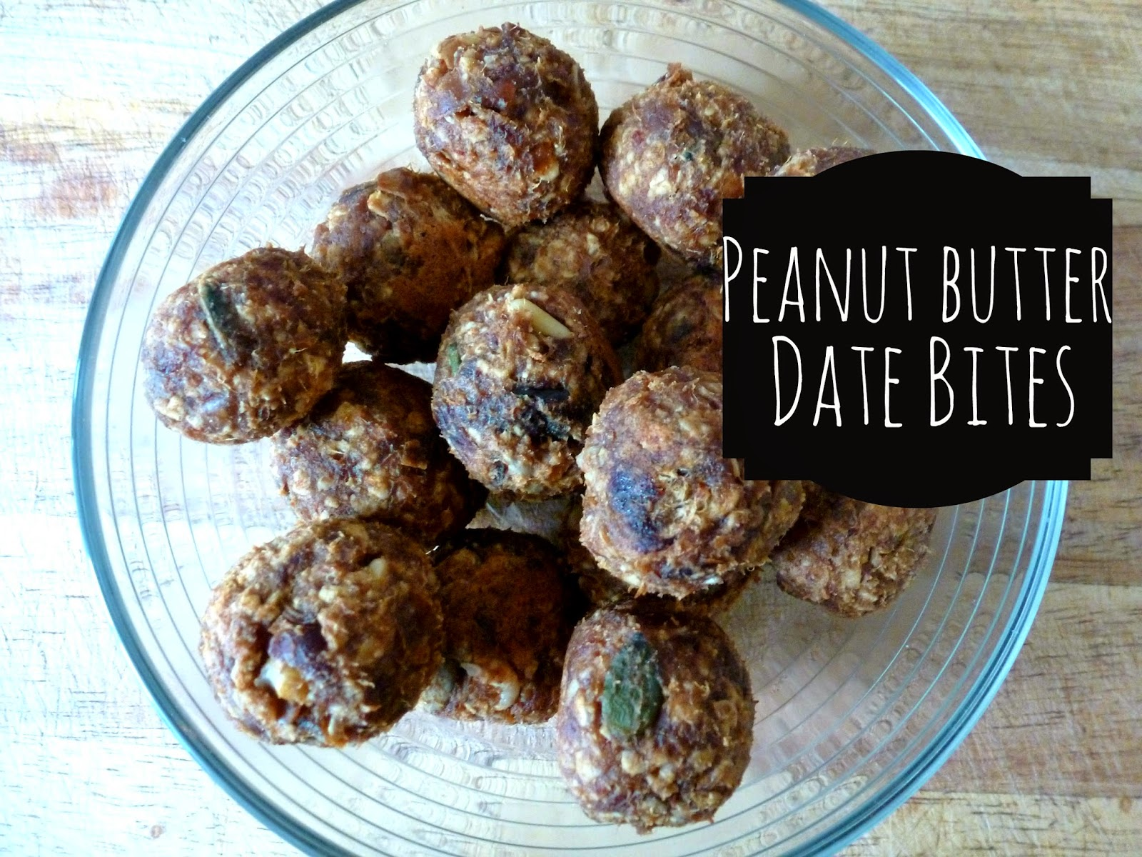 Healthy nutritious snack - peanut butter date bites, raw