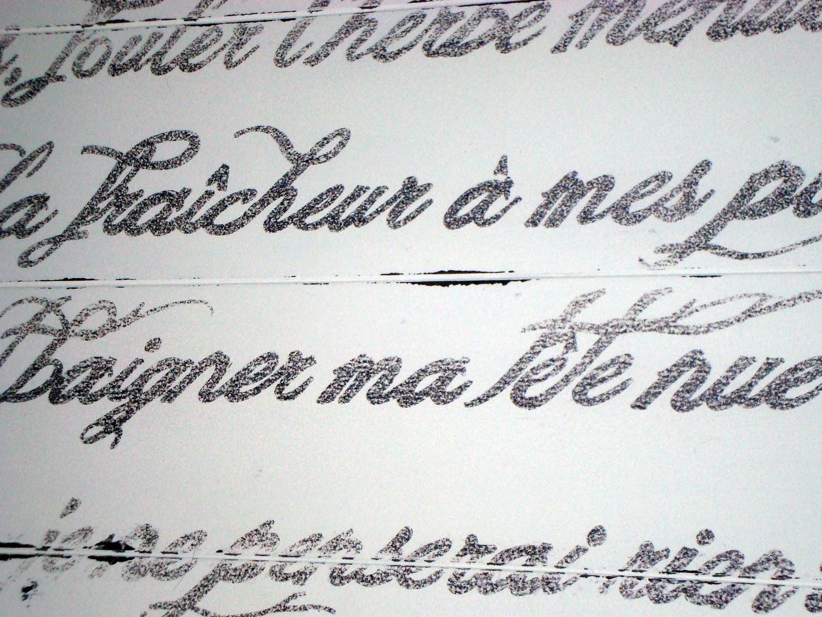 French Script Wallpaper