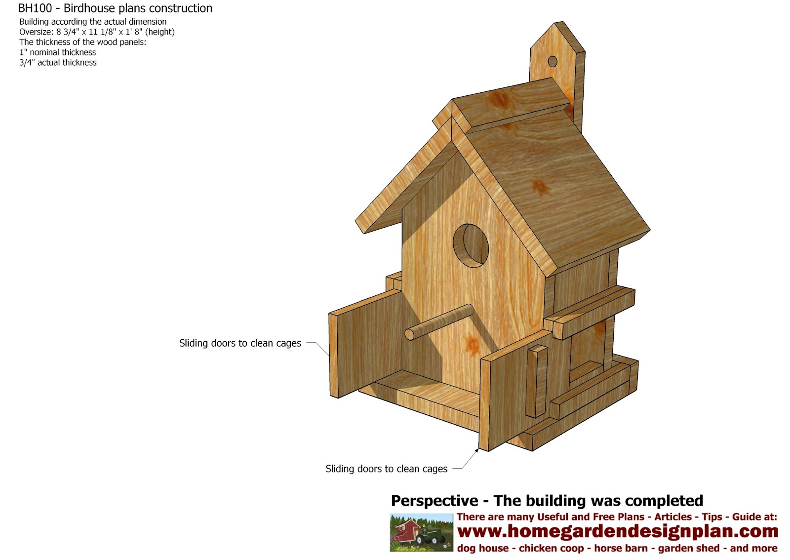 home garden plans: bh100 - bird house plans construction - bird