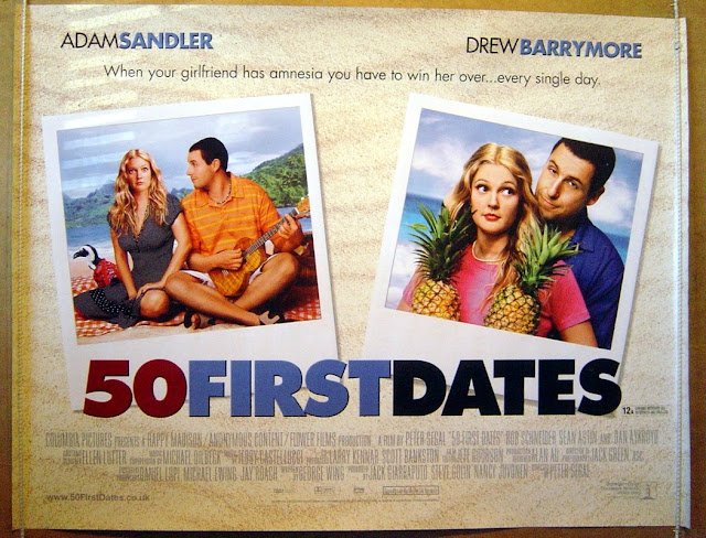 the movie 50 first dates Yify yts - 50 first dates henry roth is a man afraid of commitment up until he meets the beautiful lucy they hit it off and henry think he's finally found the girl of his dreams, until he discovers she has short-term memory loss and forgets him the very next day.