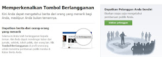 cara pasang tombol subscribe di profil facebook