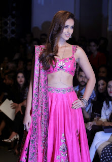 Ileana DCruz Pictures in Pink Lehenga Choli at Lakme Fashion Week Winter Festive 201419).jpg
