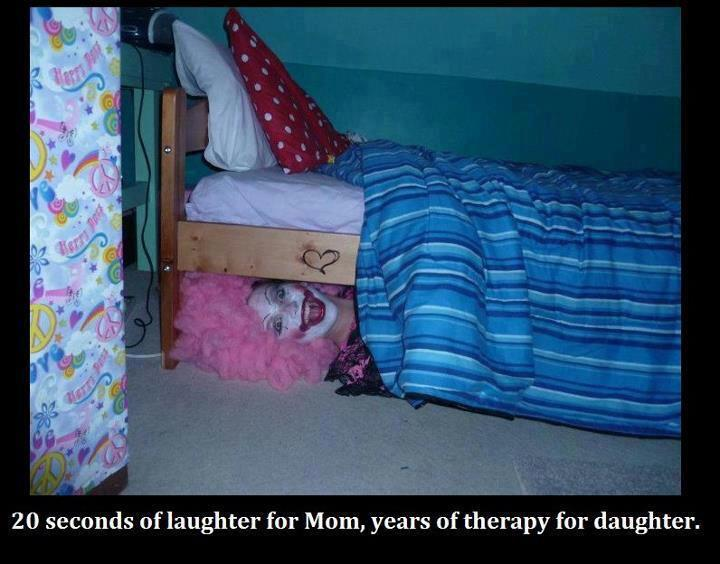 Clown under your kid's Bed