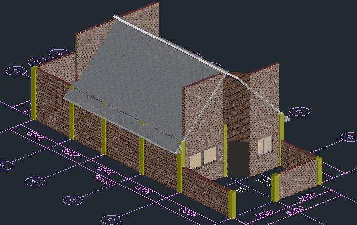 Klik pada salah satu Roofing > klik Properties > ubah sloope menjadi ...