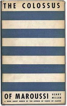 The Colossus of Maroussi, primera edición, 1941