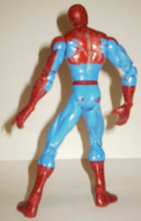 Back of unknown 2002 Toy Biz Spider-Man action figure