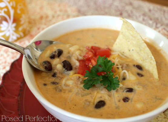 Creamy Southwestern Soup is perfect for the chilly nights of winter!