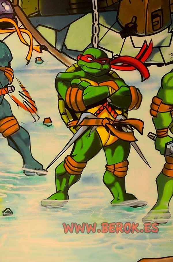 graffiti tortuga ninja Raphael