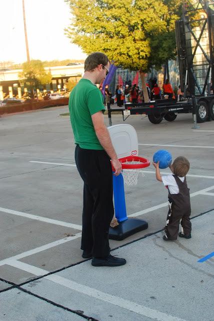 dad teaching son