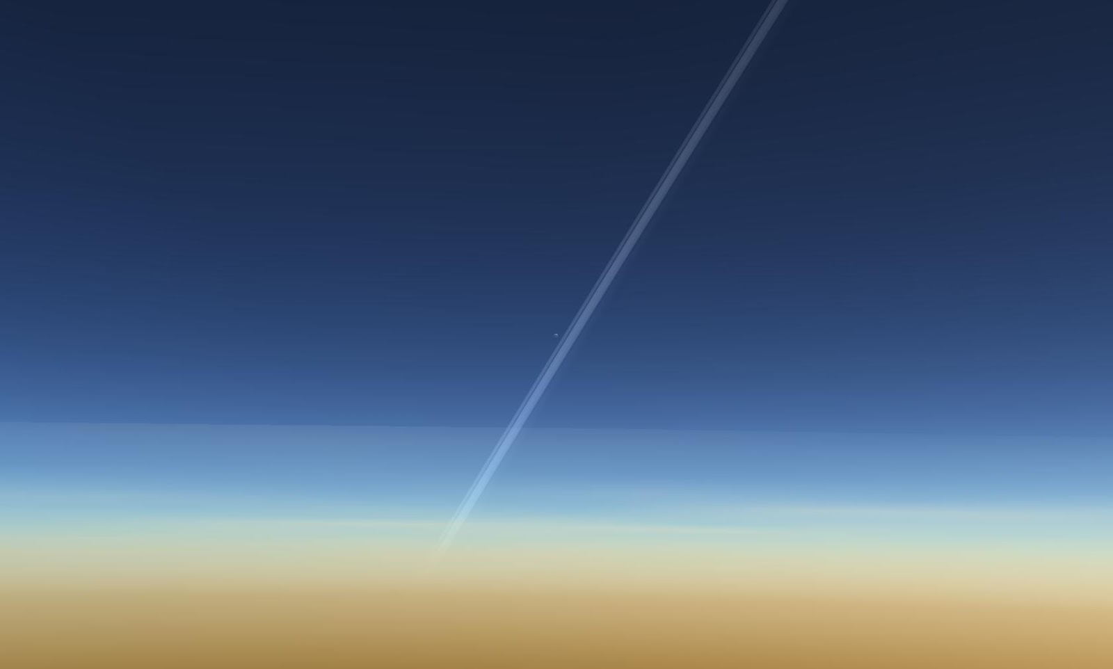 Vành đai của hành tinh Thổ và vệ tinh Titan của nó. Tác giả : John Brady ở Astronomy Central trên mạng xã hội Reddit.