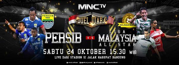 MNC TV Siarkan Langsung Persib vs Malaysia All Star Sabtu 24 Oktober 2015