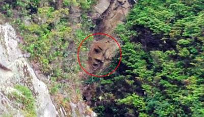 """Ada Penampakan """"Wajah Manusia"""" Di Tebing Hutan"""