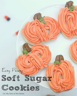 Easy Peasy Soft Sugar Cookies  from On My Side of the Room