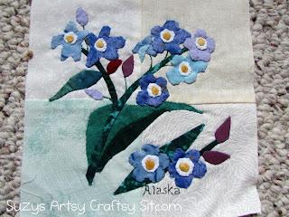 appliqued state flower alaska