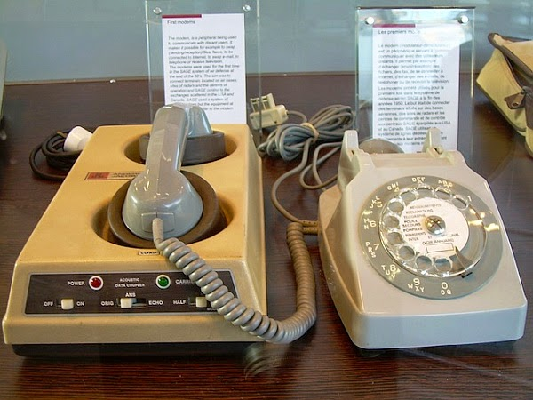 old dial-up modem
