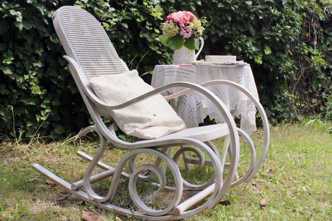 Creamaricrea sedia a dondolo shabby chic shabby chic rocking chair - Sedia a dondolo usata ...