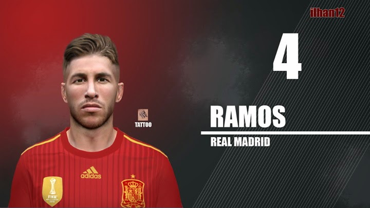 PES 2014 S.Ramos Face by ilhan