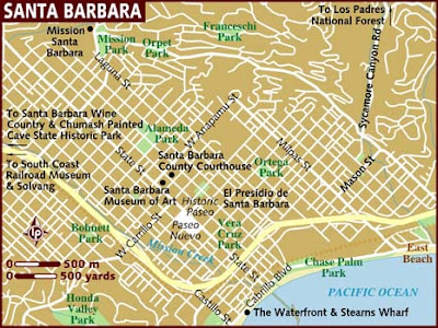 Tourist Map of Santa Barbara City 2