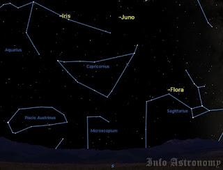 Lihat Tiga Asteroid di Langit Malam Agustus 2013