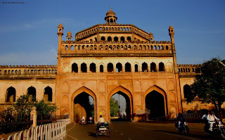 Rumi Darwaja in Lucknow was built during the year 1784 Roomi Darwaja, Lucknow under the patronage of Nawab Asaf-Ud-dowlah.  It is an entrance to the city. This building-cum-Gate  is a 60 feet tall structure and probably one of the most impressive buildings of the world
