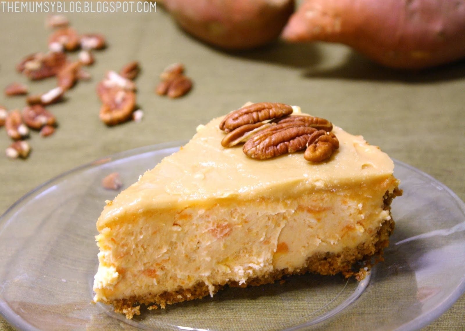 Mumsy: Sweet Potato-Pecan Cheesecake with Praline topping