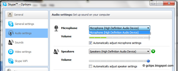how to fix sound after skype call