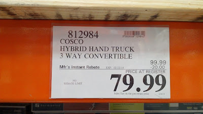 Cosco 3 Way Convertible Hybrid Hand Truck at Costco with rebate