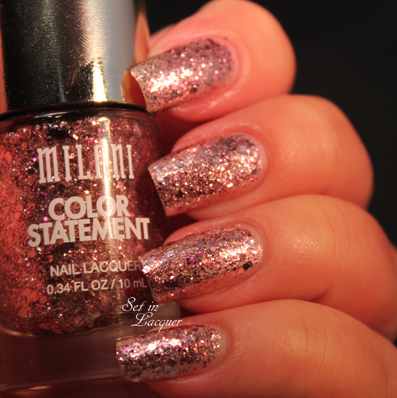 Milani Color Statement Collection - the glitters - swatches, review ...