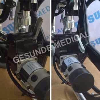 spesifikasi kursi roda elektrik rangka baja
