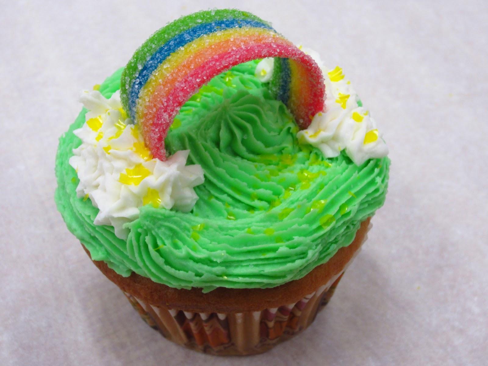 Ergo Rainbow Cupcakes For St Pattys Day