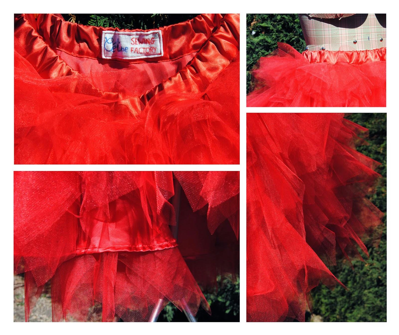jupe mouchoir de tulle by céline détails