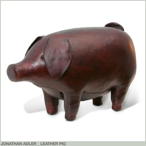 JONATHAN ADLER - LEATHER PIG