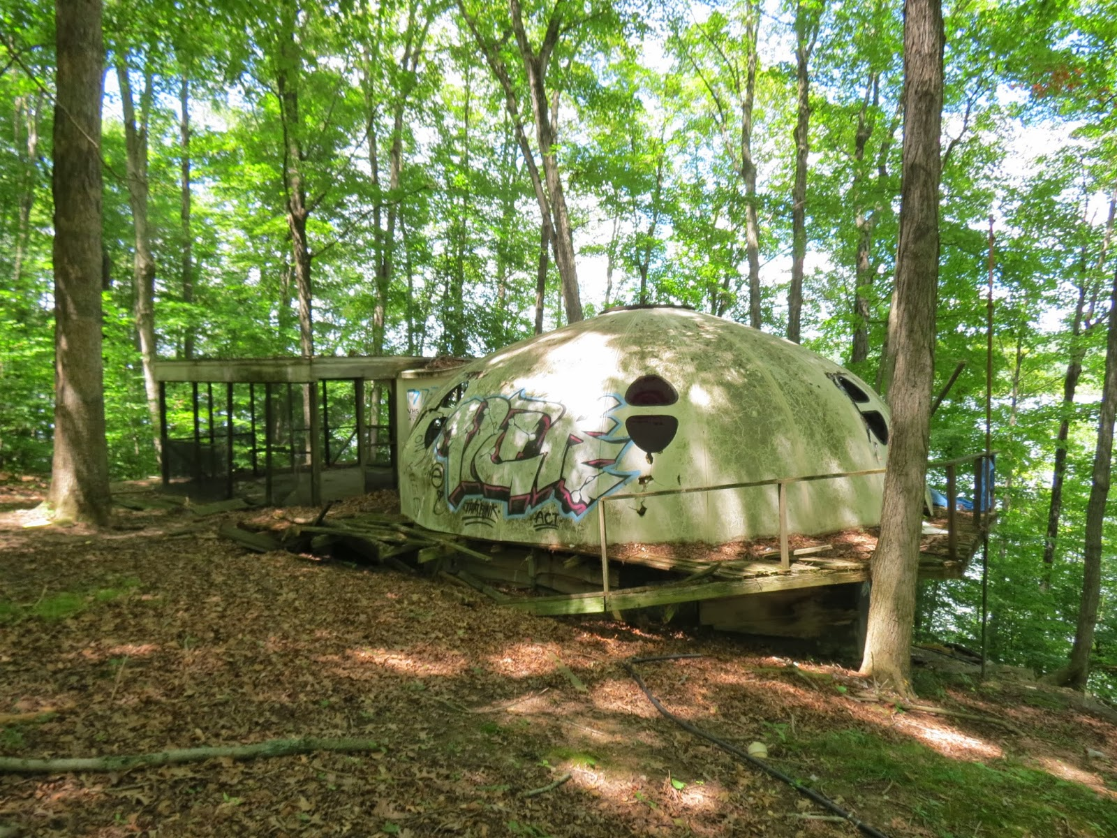 Eerie Indiana Abandoned Dome Camping Cabin Rural Indiana