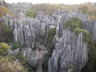 El bosque de piedra, en China