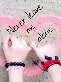Never Leave Me Alone Love 240x320 Mobile Wallpaper