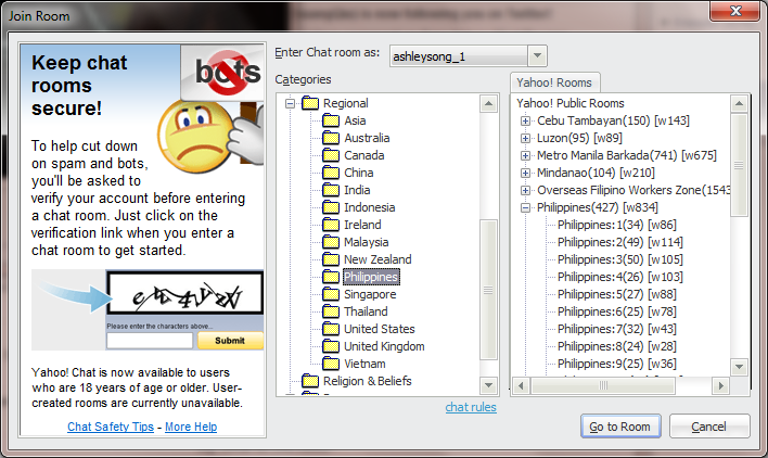 filipino chat room yahoo