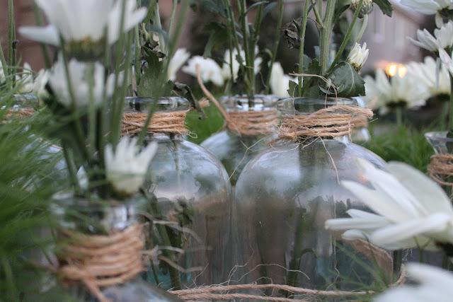 rustic glass bottles