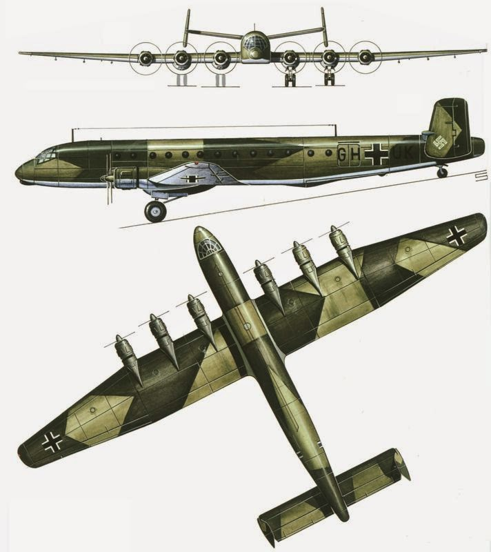 world war ii in pictures junkers ju 390 amerika bomber. Black Bedroom Furniture Sets. Home Design Ideas